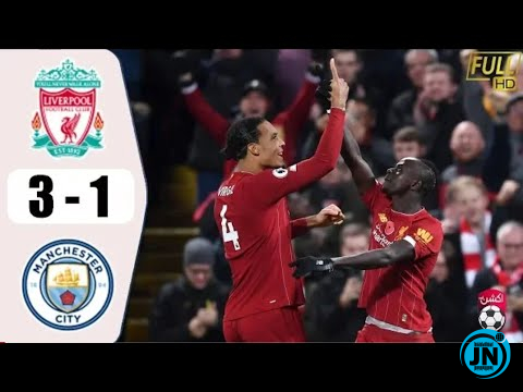 Liverpool vs Manchester City 3-1 – All Goals & Highlights
